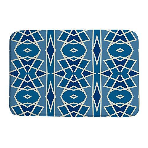 Ruchen - Felpudo con diseño de árabes Azules y Vintage, para decoración del hogar, Absorbe la Humedad, Duradero, multitamaño, Lana Coral, 23.6×15.7 Inch