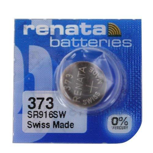 Renata SR916SW Batterie 373 , silberfarben, 1,55V, hergestellt in der Schweiz, 373