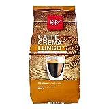 James Premium Käfer Caffè Crema,(1 x 1 kg) Edelstahldose für 1 kg Kaffeebohnen Design Glastasse,...