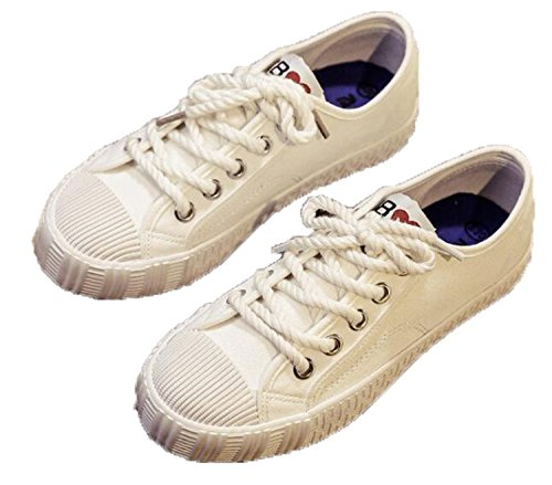 New Women's Shoes Vulcanize Shoes Spring Autumn Girls Casual Canvas Shoes Breathable Walking Shoes Tenis 59 White 7.5
