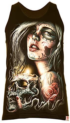 Classic Wear Rock Eagle International Santa Muerte with Skull Herren Tank Top Schwarz Gr. M