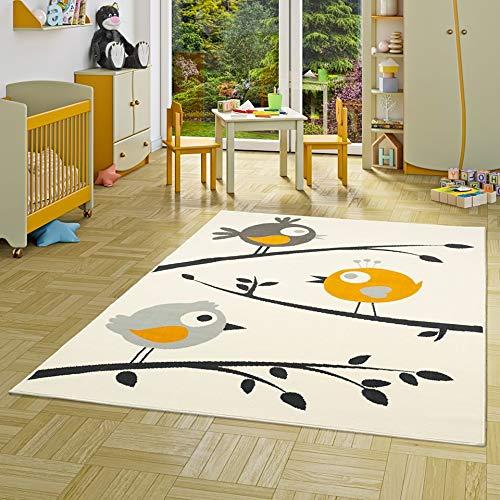 Alfombra Infantil con diseño en amarillo crema