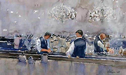 AFDRUKKEN-op-GEROLDE-CANVAS-Barmannen-aan-de-balie-Uldanc-Roberto-Voedsel-Afbeelding-gedruckt-op-canvas-100%-katoen-Opgerolde-canvas-print-Kunstdruk-op-ger-Afmeting-89_X_152_cm