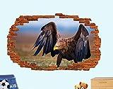 MXLYR Wandtattoo Adler Wildtier Natur Poster Wandaufkleber