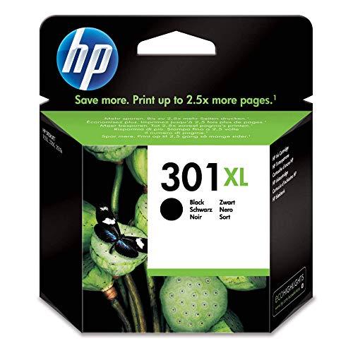 HP 301XL Schwarz Original Druckerpatrone mit hoher Reichweite für HP Deskjet 1000, 1010, 3000, 1050, 1050A, 1510, 2050, 2050A, 2510, 2540, 3050, 3050A, 3055A, HP Officejet 2620, 4630