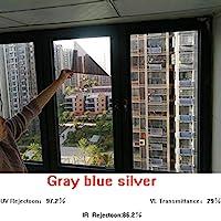 OUPAI 窓フィルム 一方向ウィンドウフィルム、プライバシー抗紫外線熱制御反射ガラスの色合いバルコニー日焼け止めウィンドウ日よけステッカーライトスタティッククリング5ピース ガラスフィルム (Color : B, Size : 31 × 39inch)