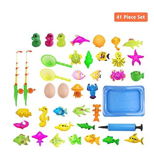 Magnetische Angeln Spielzeug, 10 STÜCKE / 39 STÜCKE / 41 STÜCKE / 80 STÜCKE Farbe Kunststoff Schwimmende Fische Lernen Bildung Spielen Doppel Pol Angeln Spiel Set Für Kinder Badezeit Pool Party