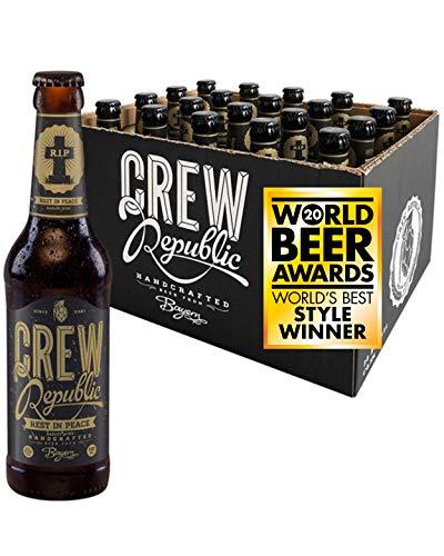 CREW REPUBLIC® Rest In Peace - Barley Wine Craft Bier | Gewinner World Beer Award Barley Wine 2020 | Bierspezialität nach deutschem Reinheitsgebot in Bayern gebraut (20 x 0,33l)