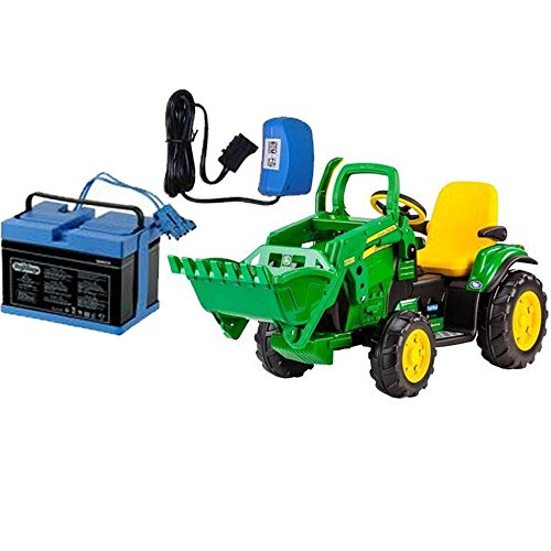 Peg Perego IGOR0069K - John Deere Ground Loader with 12 Volt Battery and Charger