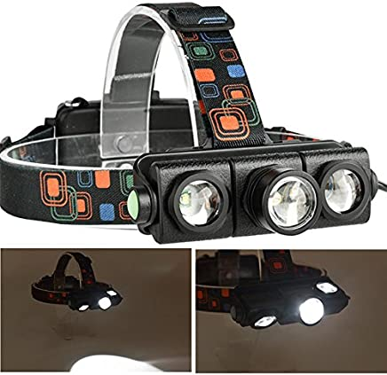 Studyset Head Lamp Flexible Zoom 4 Modes Bright LED 2500LM XML-T6 + 2xXPE for Night Outdoor Activities