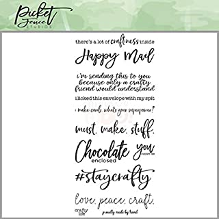 Picket Fence Studios Clear Stamp Set - Crafty Mail