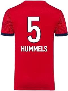 LDFN Mats Hummels #5 Men's Soccer Jersey - Short Sleeve Sports Jersey T-Shirt Fan Shirt (Color : Red, Size : XXXL)