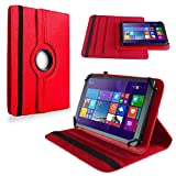 NAUC Tablet Hülle für Haier Pad 971 Tablet Tasche Schutzhülle Universal Bag Etui, Farben:Rot
