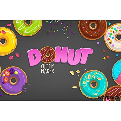 Cotton Candy Bar Lollipop Donuts Pink Birthday Fotografía Fondos Fondos fotográficos Personalizados para Photo Studio A15 9x6ft / 2.7x1.8m