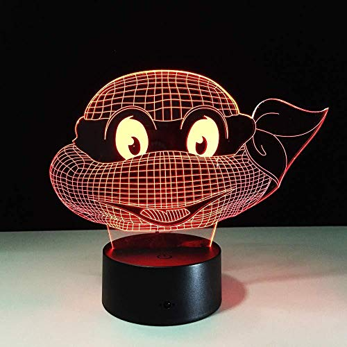 3D Illusion Night Light bluetooth smart Control 7&16M Color Mobile App Led Vision Turtles Turtle Kids Teenage Party Bedroom Birthday Living Room Halloween Battery Three