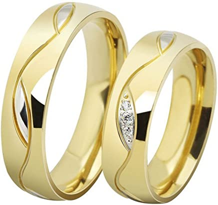 The New 18k Diamond Engagement Rings Gold Alloy Wedding Rings 025 (men, us5)