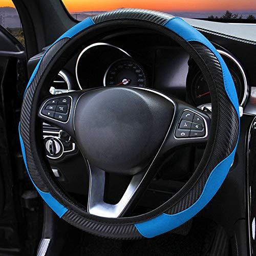 Istn Mikrofaser Leder Auto Lenkradbezug 38cm f/ür die meisten Autos Black Brown