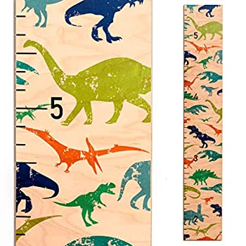 Wooden Growth Chart for Girls Boys Kids and Baby Gift Height Chart Dinosaurs