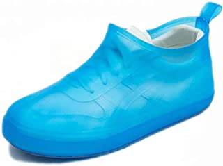 WRMFW Waterproof Rain Boot Shoe Cover The Reusable Slip-Resistant Overshoes with Excellent Elasticity and Foldable