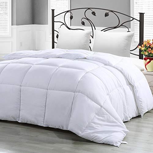 CASA COPENHAGEN Exotic morbido leggero reversibile poliestere anallergico fill Queen Size Comforter/Duvet Insert, bianco