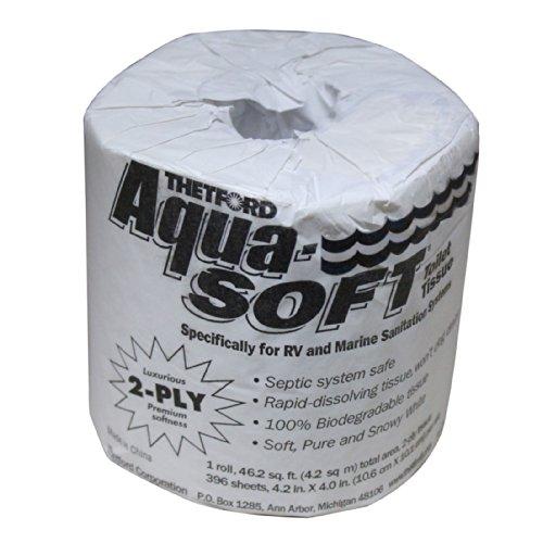 Thetford 24033 Aqua-Soft Single Roll 2-Ply Toilet Tissue
