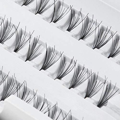 TrAdE shop Traesio- EXTENSION CIUFFO CIGLIA FINTE 180 CIUFF NATURALI NERI PROFESSIONALE MAKE UP 8MM
