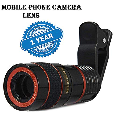 Mobile Camera 8X Zoom Wide Angle HD Telescope Lens with Blur Background and Universal Clip Holder for All Latest Android...
