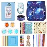 Andoer 10 in 1 Kit di Accessori per Fujifilm Instax Mini 9/8, Includa Custodia/Cinturino/Specchio Selfie/Filtro/Album/Etichetta/Cornice Foto/Spruzzare