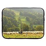 Funda Impermeable para portátil de 15 Pulgadas, maletín de Negocios de ovejas y pastores, Bolsa Protectora, Funda para Ordenador BAG-6454