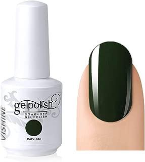 Vishine Gelpolish Professional UV LED Soak Off Varnish Color Gel Nail Polish Manicure Salon Army Green(1436)