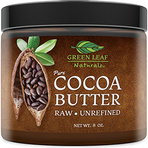 Hard Cocoa Butter for DIY Recipes - Raw Unrefined - Great for Pure All Natural Organic Skin, Hair, Face Concoctions - Creams, Lotions, Moisturizers (8 oz)
