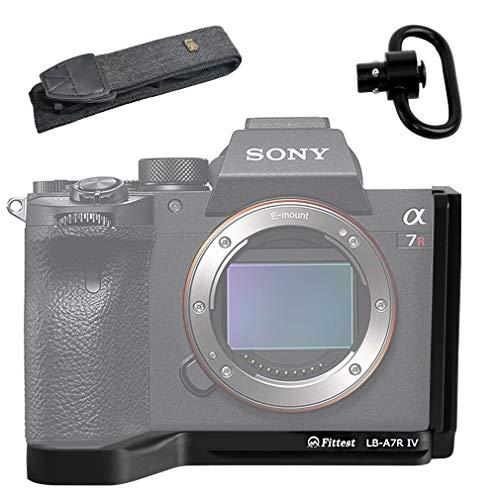 ブラック 金属製 L型クイックリリースプレートブラケット ハンドグリップ ソニー Sony Alpha A7R IV ILCE A...