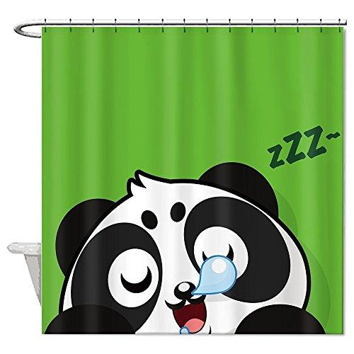 rioengnakg Schnarchen Panda Grün Hintergr& Polyester Duschvorhang wasserdicht, Polyester, #1, 66