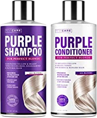 BLONDE SHAMPOO & CONDITIONER - Revicare purple shampoo and conditioner for blonde hair are developed to easily keep your ice-cool blonde tone beautiful at home. Within 10 minutes, you'll get a richer and colder blonde color without yellow and brassy ...