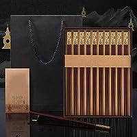 箸 - レッドウッド酸/銅、中国のハイエンドギフト箸、ハイエンド食器のセット、アンチスリップ/抗カビ(長さ:27センチ) 箸