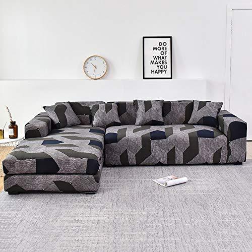 WXQY Funda de sofá de Sala de Estar Chaise Longue, en Forma de L Necesita Comprar 2 Juegos, Funda de sofá elástica Funda de sofá de Esquina en Forma de L A1 3 plazas