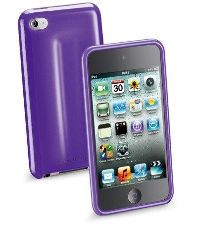 Cellular Line Silikon-Hülle, Folie und Tuch glänzend für Apple iPod touch 4 lila
