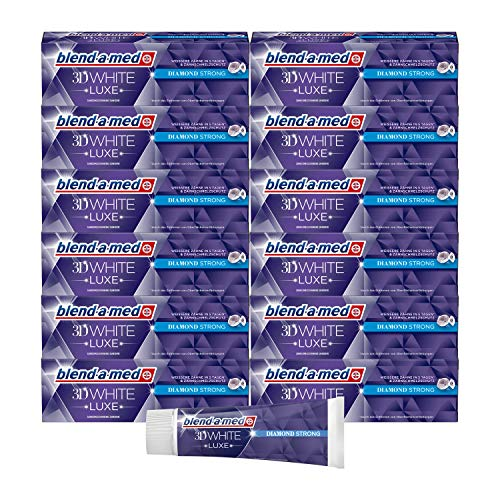 Blend-a-med 3DWhite Luxe Diamond Strong Zahnpasta 75 ml, 12er Pack (12 x 75 ml)