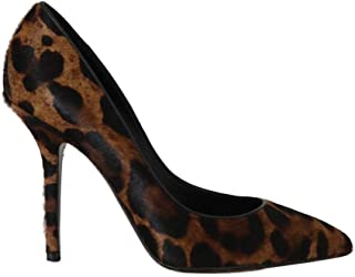 Dolce & Gabbana Brown Leopard Leather Pony Hair Pumps