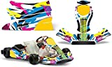 AMR Racing Go-Kart Graphics kit Sticker Decal Compatible with KG Freeline Birel Cadet - Flashback