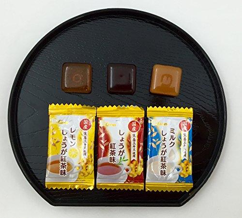 ライオン菓子しょうが紅茶のど飴84g×6袋