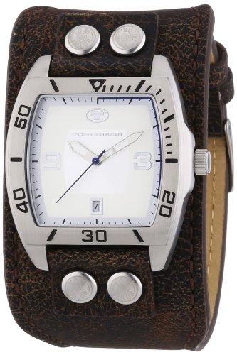 TOM TAILOR Herren-Armbanduhr Analog Quarz Leder 5412402