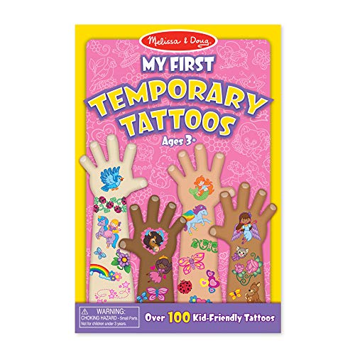 Melissa & Doug | My First Temporary Tattoos - Pink | Activity Pad | Sticker Pad | 3+ | Gift for Boy or Girl