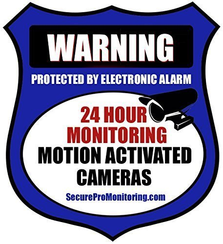 6'Real Blue Burglar Alarm Video Surveillance Security Decals Door & Window Stickers