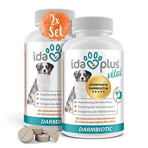 Ida Plus Darmbiotic 120 Tabletten - gesunde Darmbakterien - Probiotika zur Darmsanierung für den Hund - Immunsystem stärken & Darmflora aufbauen - Regulierung der Verdauung 2er Set