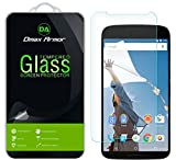 [2-Pack] Dmax Armor for Nexus 6 Screen Protector, [Tempered Glass] 0.3mm 9H Hardness, Anti-Scratch, Anti-Fingerprint, Bubble Free, Ultra-Clear