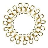 Pandahall Elite - Lote de 50pcs llavero en hierro cadenas con anillo, platino, 46 mm, aleación, dorado, 35x13mm