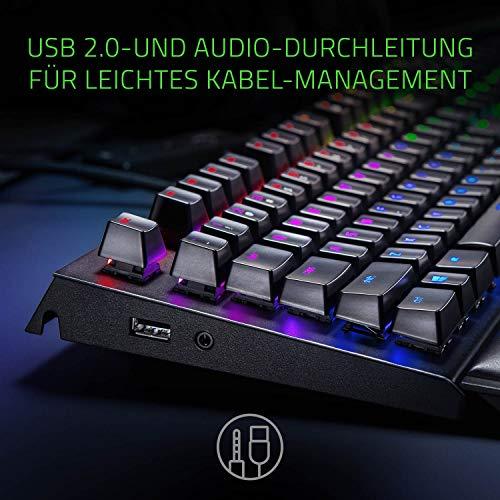Razer BlackWidow Elite (Green Switch) - Gaming Tastatur mit mechanischen Schaltern (Taktil & klickend, Handballenauflage, RGB Chroma Beleuchtung) QWERTZ | DE-Layout, Schwarz