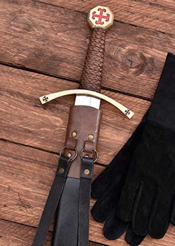 Templer-Schwert mit Scheide Kreuzfahrerschwert Ritter Mittelalter - 3