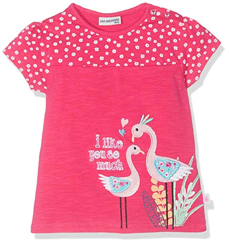 SALT AND PEPPER Salt & Pepper Baby-Mädchen B Wild Stick T-Shirt, Pink (Pink 875), 74